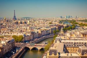 Blick vom Notre Dame auf Paris