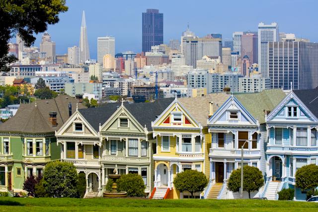 Reihenhäuser in San Francisco