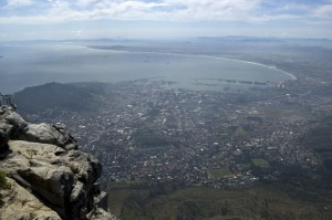 Blick vom Tafelberg in Kapstadt