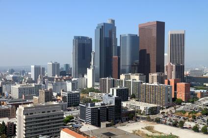 Blick auf Los Angeles Finanzdistrikt